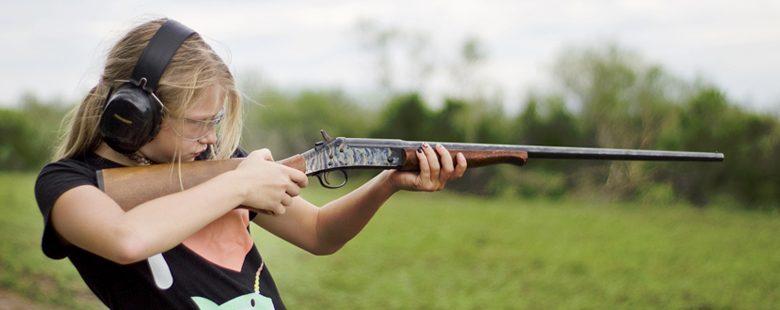 girl with shotgun