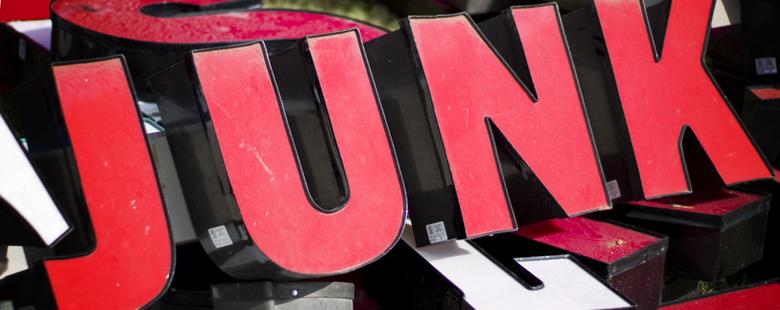 junk sign