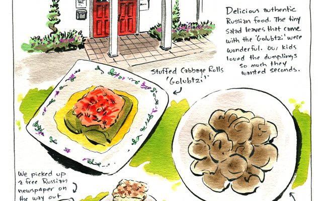 painting of russian food